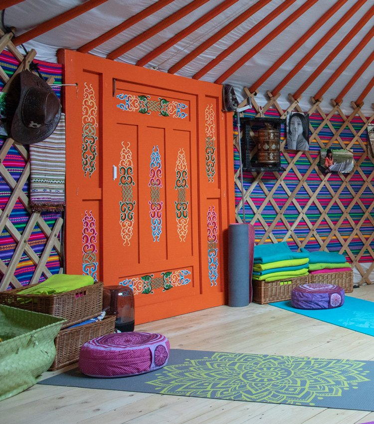 Čajovna v jurtě